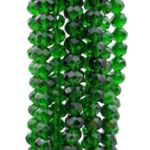 Cristalli Rondelle 6 mm | Cristalli rondella Green 6x5 mm filo 40 cm - green65m