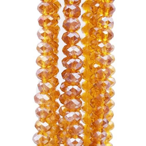 Cristalli Rondelle 6 mm | Cristalli rondella light brown sfacc. 6x5 mm filo 40 cm - lightb5z