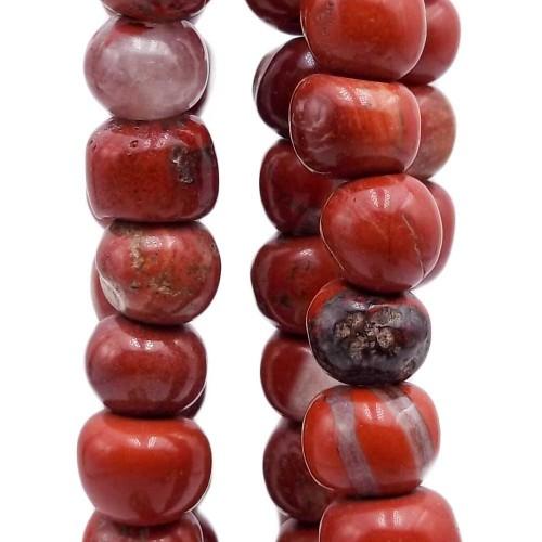 Pepite in pietra dura | Diaspro rosso jasper 8/11 mm pacco da 20 pezzi - jas12mm