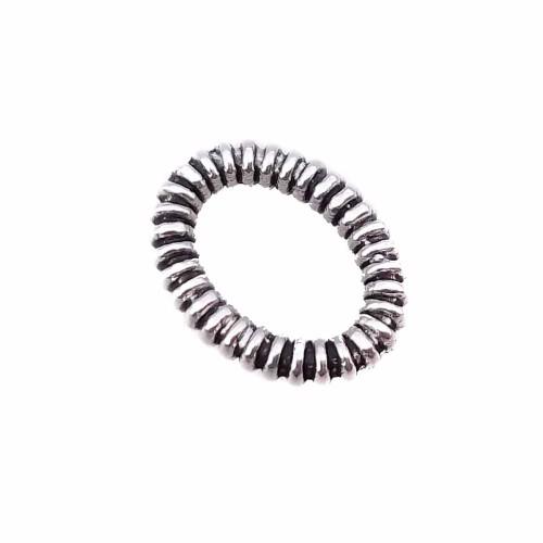 Anellini Aperti | Anellino ovale intagliato 8.5x7 mm pacco 50 pezzi - anar5g1