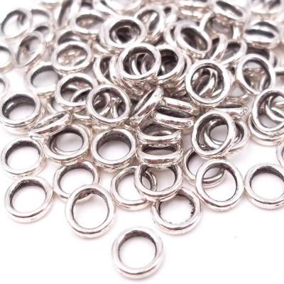 Distanziatore ad anellino 6 mm foro 4 mm pacco 50 pz