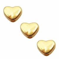 Distanziatore cuore oro 6 mm pacco da 30 pezzi
