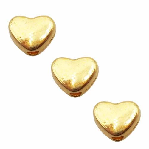 Distanziatori In Argento Tibetano | Distanziatore cuore oro 6 mm pacco da 30 pezzi - cuoor11
