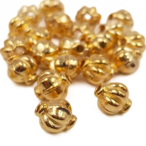 Distanziatori In Argento Tibetano | Distanziatore oro con 4x4.4 mm pacco 30 pz - age51