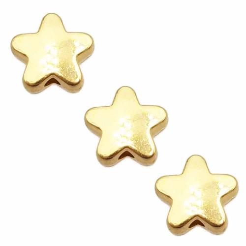 Distanziatori In Argento Tibetano | Distanziatore stella oro 7.5 mm pacco da 20 pezzi - stoor11z