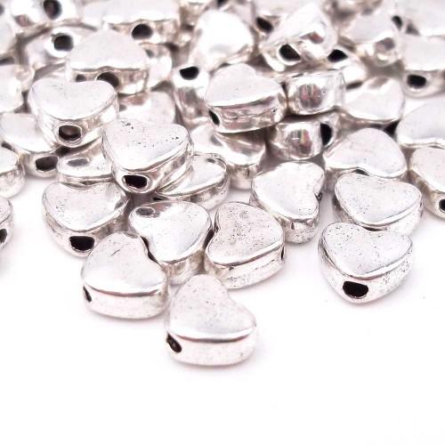 Distanziatori In Argento Tibetano | Distanziatori argentone cuore 6x4,7 mm pacco 20 pz - didi5