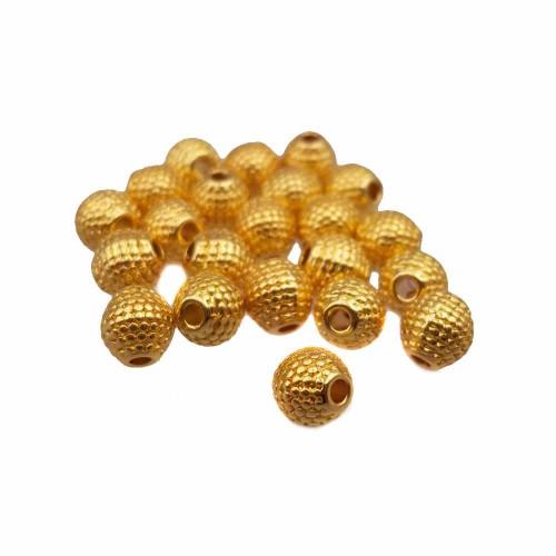 Distanziatori In Argento Tibetano | Distanziatori placcati oro lucido 5.5 mm pacco 25 pezzi - ora29c1