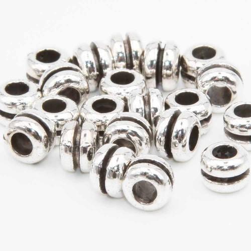 Distanziatori In Argento Tibetano | Distanziatori rondelle 6.5x5 mm foro 3.3 mm pacco 16 pezzi - arhh12