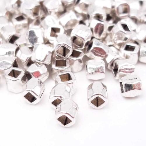 Distanziatori In Argento Tibetano | Distanziatori tubicino 3,7x3 mm foro 1.7 mm pacco 50 pz - didi4
