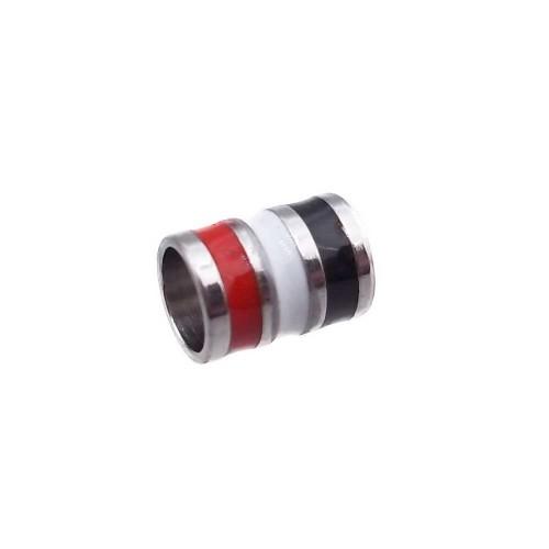 Distanziatori In Acciaio | Distanziatore acciaio smaltato 5x4 mm foro 3 mm 1 pz - dsma99