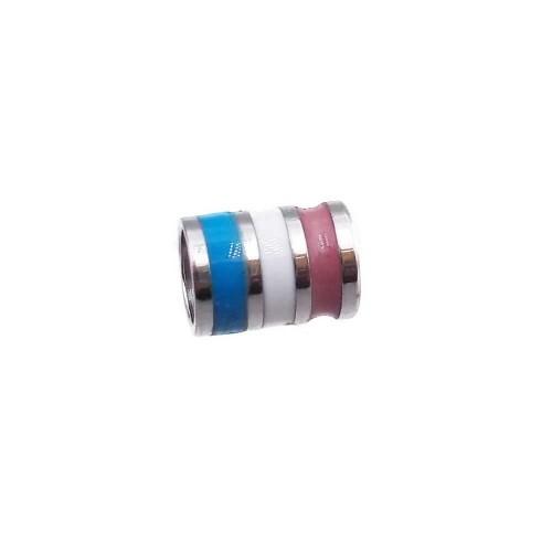 Distanziatori In Acciaio | Distanziatore acciaio smaltato 5x4 mm foro 3 mm 1 pz - dsma966