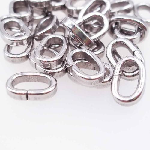 Anellini In Acciaio | Distanziatore in acciaio 11.5x7.4 mm pacco 10 pz - zxa1