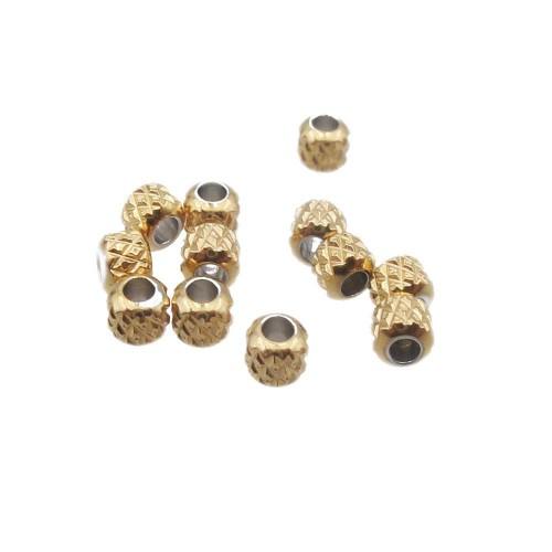 Distanziatori In Acciaio | Distanziatori oro acciaio 3x2.5 mm foro 1.5 mm pacco 20 pz - 25158hh7