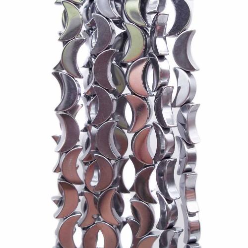Ematite | Ematite Luna argento 8 mm pacco da 10 pezzi - emat6200