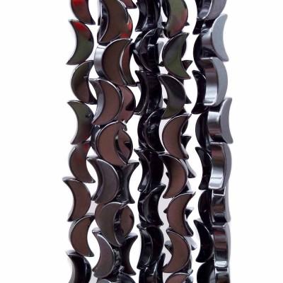 Ematite Luna color canna di fucile lucida 8 mm pacco da 10 pezzi