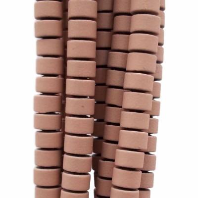 Ematite rondelle rivestite opacizzate 4x2.4 mm nocciola filo da 40 cm