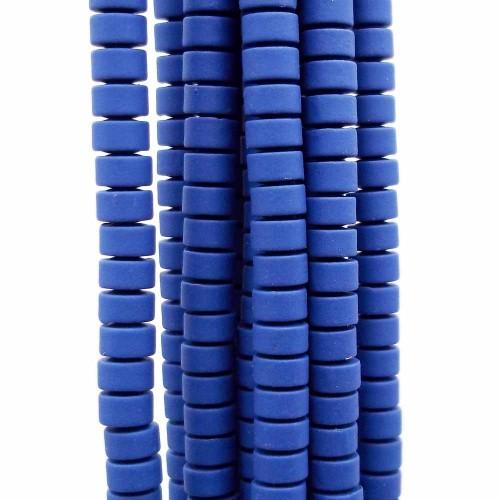 Ematite | Ematite rondelle rivestite opacizzate 4x2.4 mm viola filo da 40 cm - viol819a