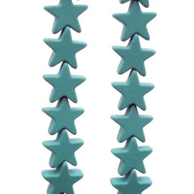 Ematite stelle rivestite 7 mm verde militare pacco da 10 pezzi