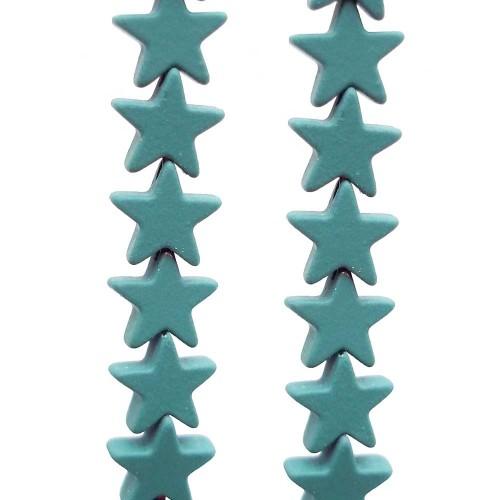 Ematite | Ematite stelle rivestite 7 mm verde militare pacco da 10 pezzi - riemat33
