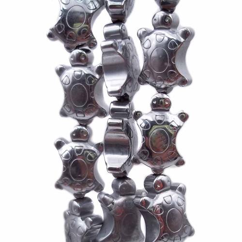 Ematite | Ematite tartaruga argentata 13.7x8.9 mm pacco da 4 pz - ematt28