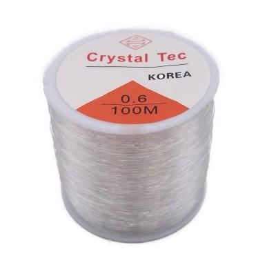 Filo Elastico Cristal Tec Ultra resistente 0.6 mm rotolo 100 mt