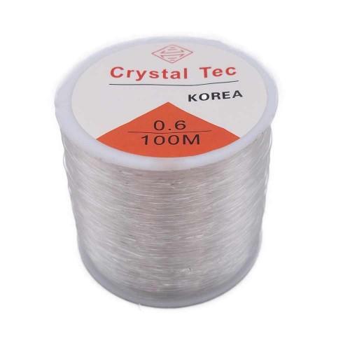 Filo Elastico Cristal Tec | Filo Elastico Cristal Tec Ultra resistente 0.6 mm rotolo 100 mt - cry09