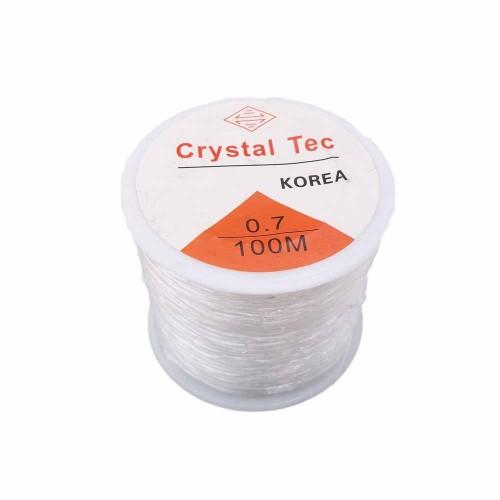 Filo Elastico Cristal Tec | Filo Elastico Cristal Tec Ultra resistente 0.7 mm rotolo 100 mt - cry4z1