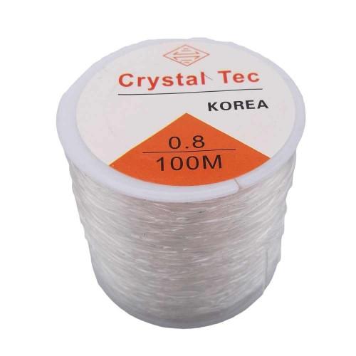 Filo Elastico Cristal Tec | Filo Elastico Cristal Tec Ultra resistente 0.8 mm rotolo 100 mt - cry08