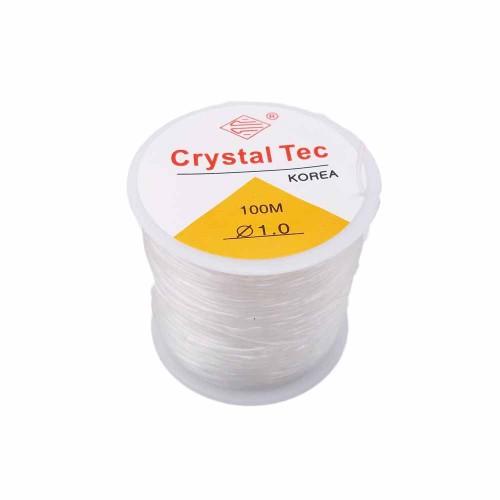 Filo Elastico Cristal Tec | Filo Elastico Cristal Tec Ultra resistente 1 mm rotolo 100 mt - cry0nx