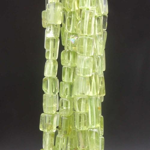 Fluorite Verde | Fluorite verde rettangolo 3/4 mm circa filo 40 cm - flure6661
