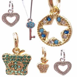Charms in Ottone Con Strass