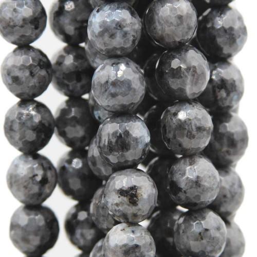 Labradorite | Labradorite nero larichite tonda sfac. 12 mm pacco 10 pz - 310ii28a