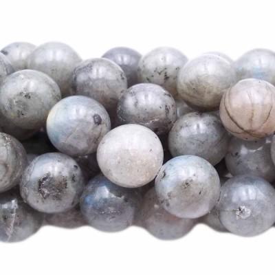 Labradorite tonda liscia 12.4 mm pacco 10 pezzi