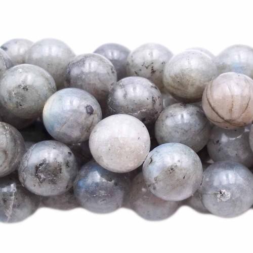 Labradorite | Labradorite tonda liscia 12.4 mm pacco 10 pezzi - lab2n1