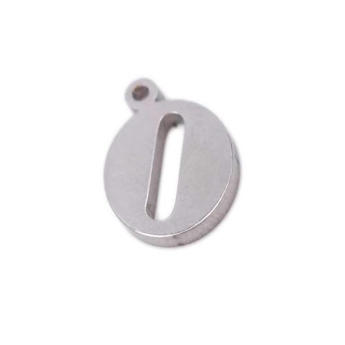 Charms Lettere alfabeto | Charms lettera O in acciaio 10.5 mm pacco 1 pz - LetteraO1