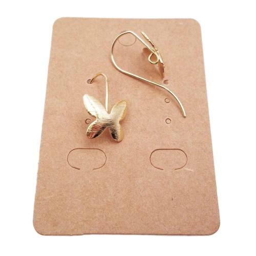 Monachelle | Monachelle ottone oro farfalla 12 mm pacco 2 pezzi - Xx1134