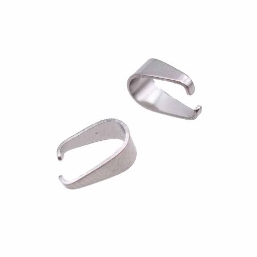 Minuteria In Acciaio | Ganci per pendenti in acciaio 7.5 mm pacco 50 pz - fb99198