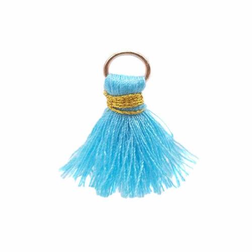 Nappine | Nappina celeste in stoffa 25 mm anellino oro pacco 1 pz - ssw2