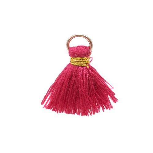 Nappine | Nappina fuxia in stoffa 25 mm anellino oro pacco 1 pz - ssw3