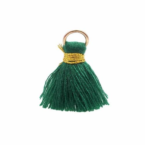 Nappine | Nappina verde in stoffa 25 mm anellino oro pacco 1 pz - ssw5