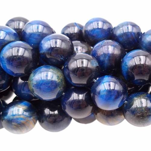 Occhio Di Tigre | Occhi di tigre blu tondo liscio 10.2 mm pacco 10 pz - xaw16