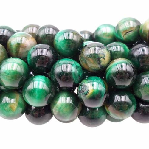 Occhio Di Tigre | Occhi di tigre verde tondo liscio 10.2 mm pacco 10 pz - xaw17