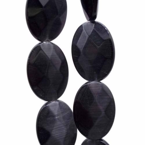 Occhi Di Gatto | Occhi di gatto ovale nere 18x13 mm pacco da 4 pezzi - occ18ne