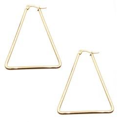 Orecchini in acciaio triangolo oro 43x37 mm pacco 2 pezzi