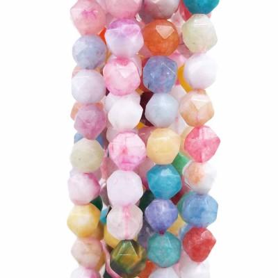 Pepite in pietre dure misto colori chiari 8 mm (circa) pacco 10 pz