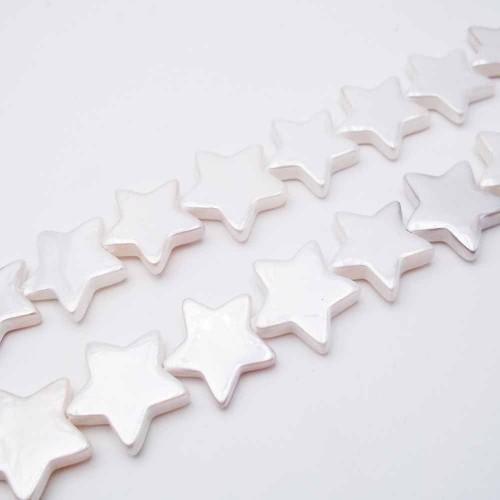 Perle Di Maiorca | Perle di maiorca stella 14,5 mm pacco 4 pezzi - pf46