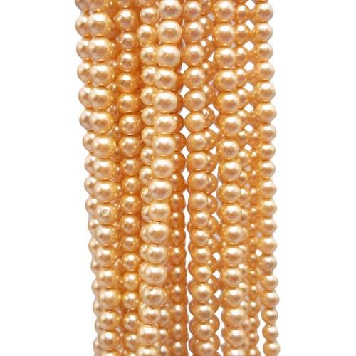 Perle Di Maiorca | Perle di maiorca tonde lisce 3/3,5 mm oro filo 40 cm - mai4gd
