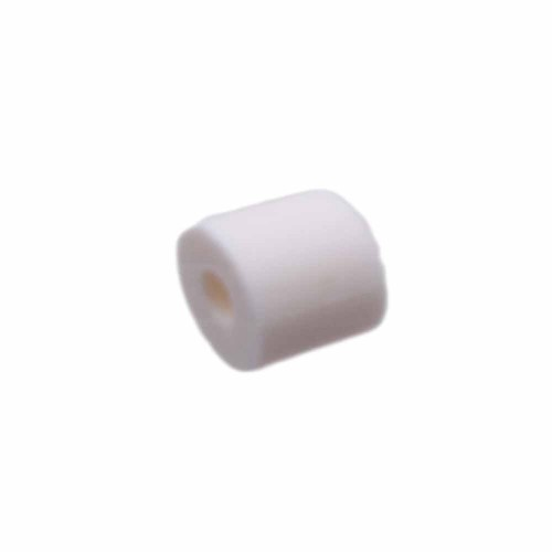 Perline Heishi pasta polimerica | Heishi tubicini bianchi 6 mm pacco da 50 pezzi - tu79bbi