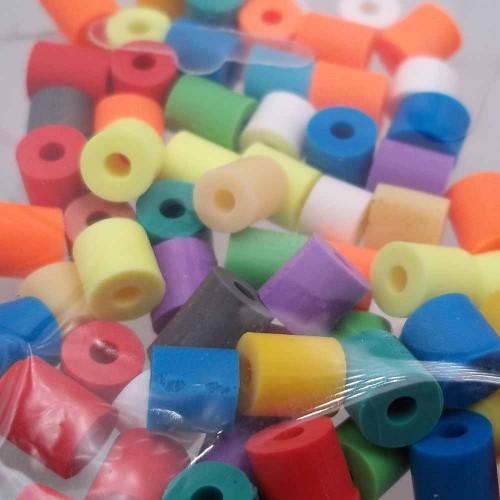 Perline Heishi pasta polimerica | Heishi tubicini colorati 6 mm pacco da 50 pezzi - tu79col