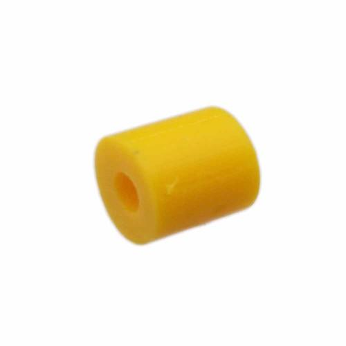Perline Heishi pasta polimerica | Heishi tubicini gialli 6 mm pacco da 50 pezzi - tu79gg